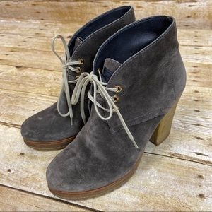 Prada Sport Taupe Suede Lace-Up Ankle Boots